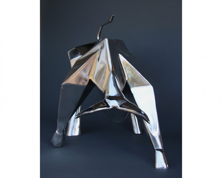 Spirit Bull Stainless Steel Sculpture by Amos Robinson