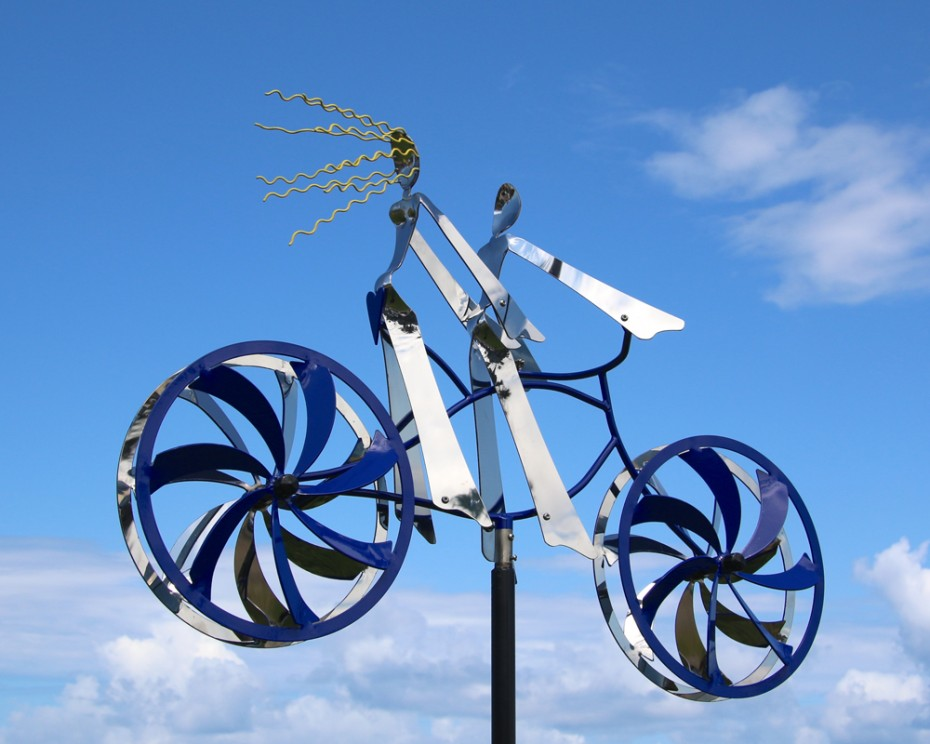 Sweethearts, Stainless Steel Kinetic Sculpture by Amos Robinson